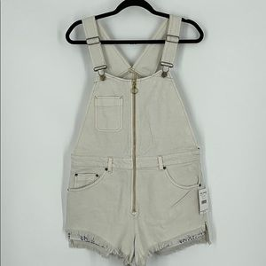 "Free People ""Sunkissed"" Denim Shorts Overalls"